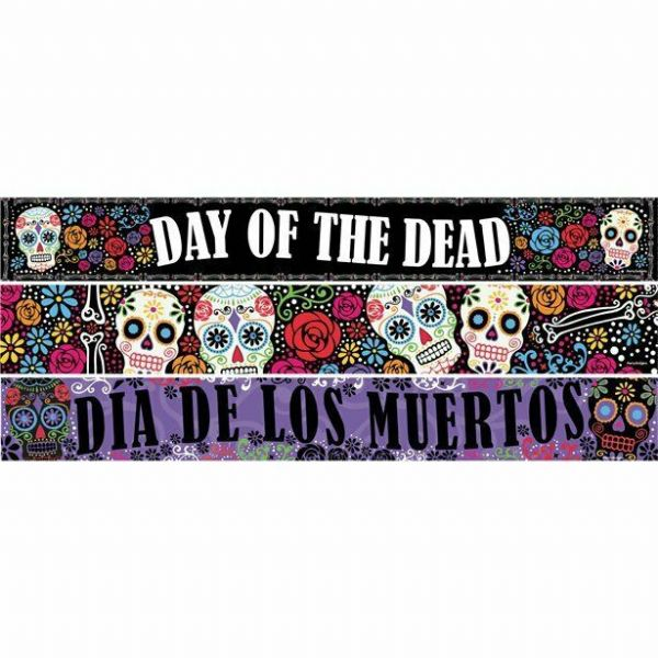 Halloween Day of the Dead Paper Banners 3 designs - 1m